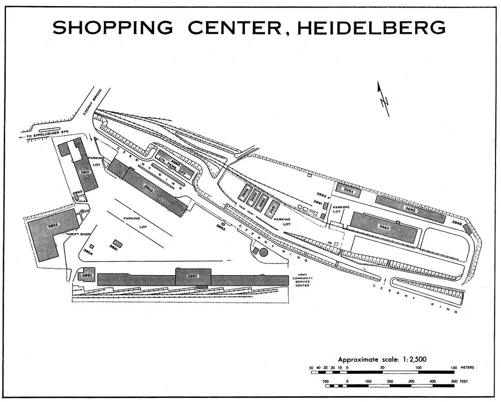 usareur installation maps campbell bks 1968. Black Bedroom Furniture Sets. Home Design Ideas