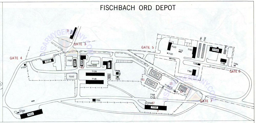 Usareur Installation Maps Fischbach 1983