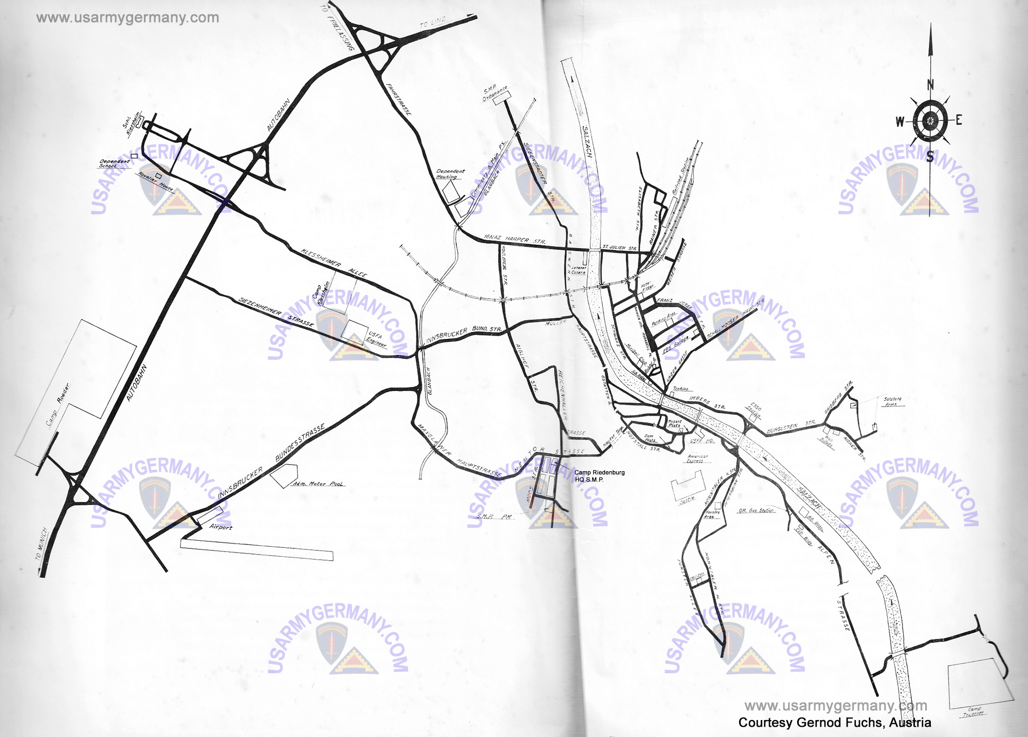USFA Maps Page - Us army strip map